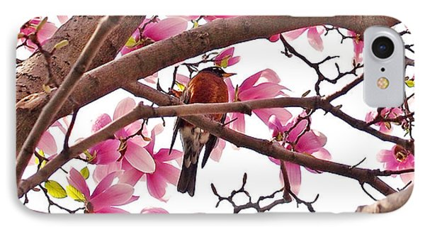 A Songbird In The Magnolia Tree - Square IPhone Case by Rona Black