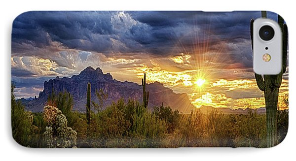 IPhone Case featuring the photograph A Sonoran Desert Sunrise - Square by Saija Lehtonen