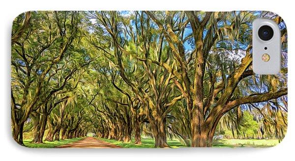 A Southern Lane 3 - Paint IPhone Case by Steve Harrington