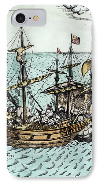 A Spanish Treasure Ship Plundered By Francis Drake IPhone Case