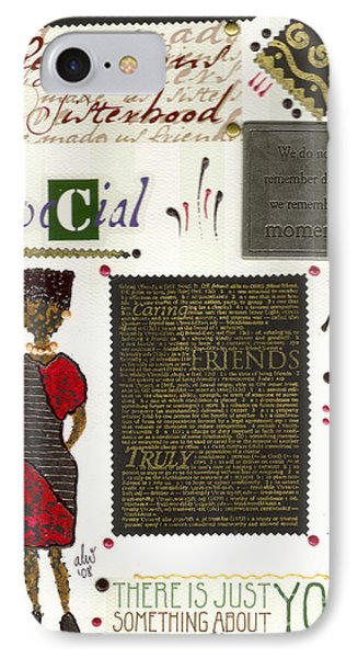 IPhone Case featuring the mixed media A Special Friend by Angela L Walker