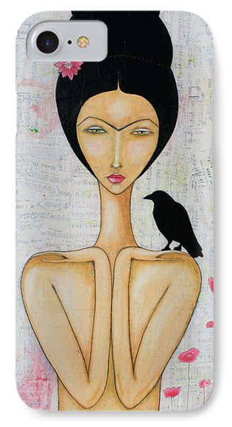 IPhone Case featuring the mixed media A Special Friend by Natalie Briney