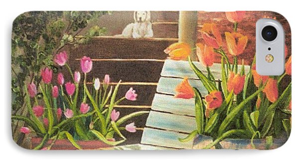 IPhone Case featuring the painting A Special Place by Renate Nadi Wesley