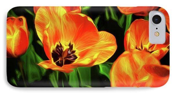 Tulip iPhone 7 Case - A Splash Of Color by Tom Mc Nemar