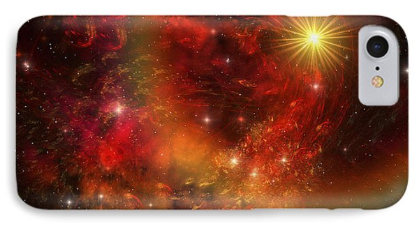 A Star Explodes Sending Out Shock Waves Phone Case by Corey Ford