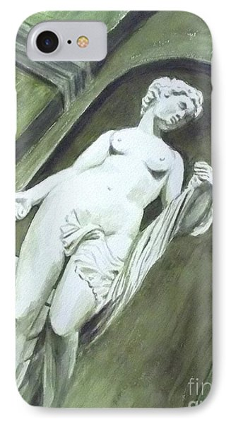 A Statue At The Toledo Art Museum - Ohio IPhone Case by Yoshiko Mishina