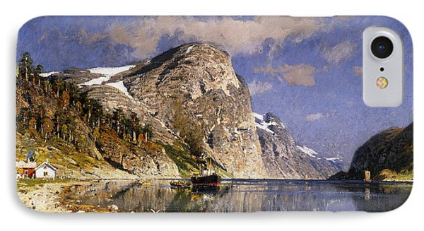 A Steamer In The Sognefjord IPhone Case
