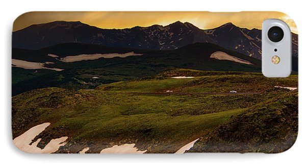 IPhone Case featuring the photograph A Stormy Alpine Sunset by John De Bord