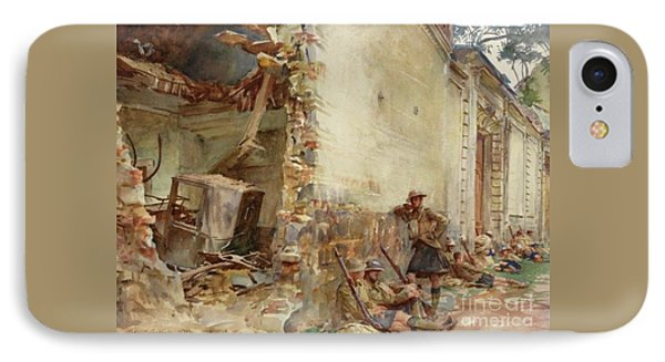 A Street In Arras, Wwi IPhone Case by John Singer Sargent