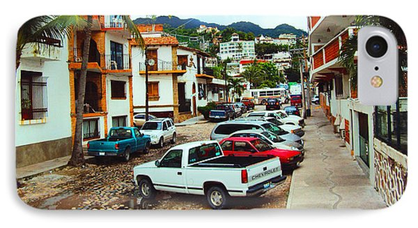 IPhone Case featuring the photograph A Street In Puerto Vallarta by Kathy Kelly
