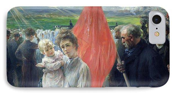 A Strike At Saint Ouen Phone Case by Paul Louis Delance