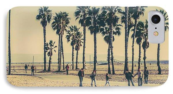 A Stroll Down Venice Beach IPhone Case by Az Jackson