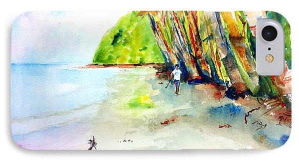 A Stroll On Batibou Beach Dominica IPhone Case by Carlin Blahnik