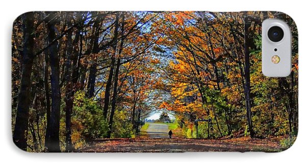 A Stroll Through Autumn Colors IPhone Case by Marcia Lee Jones