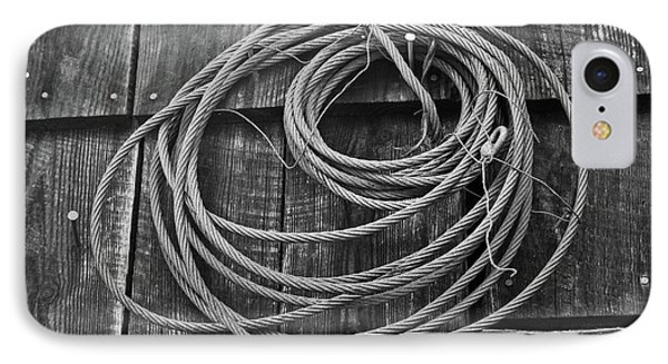 A Study Of Wire In Gray Phone Case by Douglas Barnett