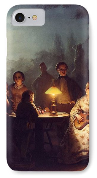 A Summer Evening By Lamp IPhone Case