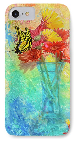 A Summer Time Bouquet IPhone Case by Diane Schuster