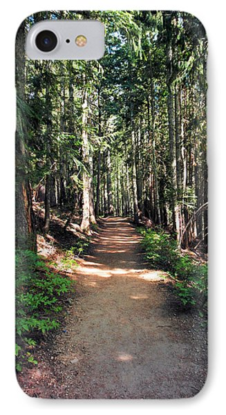A Sun Lit Trail Through The Forest IPhone Case