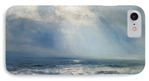 A Sunbeam Over The Sea IPhone Case by Henry Moore