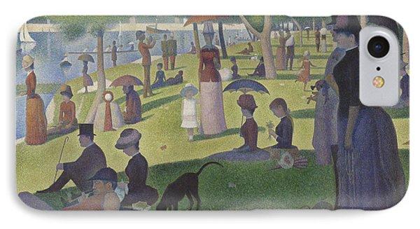 A Sunday On La Grande Jatte IPhone Case by Georges Pierre Seurat