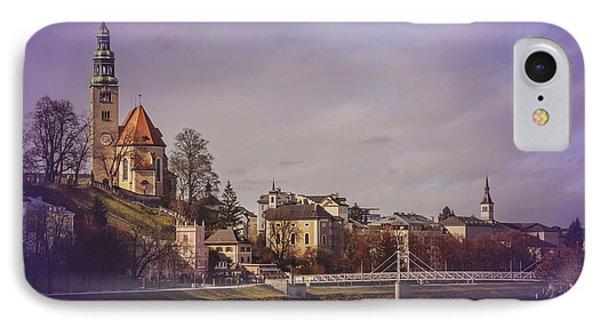 A Sunday Stroll In Salzburg IPhone Case by Carol Japp