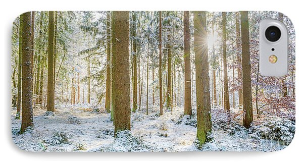 IPhone Case featuring the photograph A Sunny Day In The Winter Forest by Hannes Cmarits