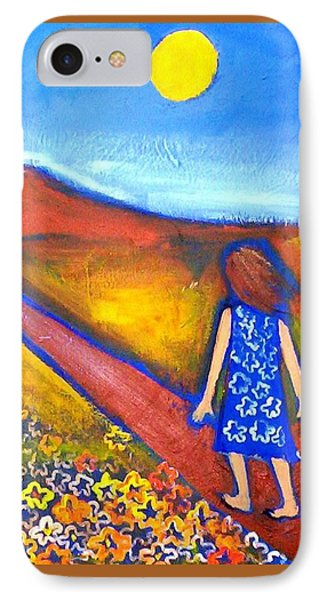 IPhone Case featuring the painting A Sunny Path by Winsome Gunning