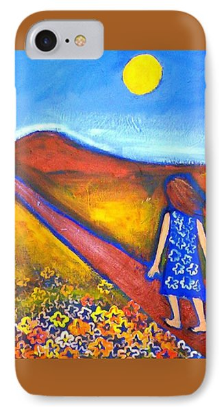 IPhone 7 Case featuring the painting A Sunny Path by Winsome Gunning