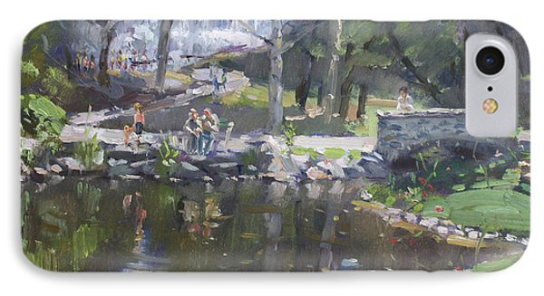 A Sunny Sunday In Williamsville Park IPhone Case by Ylli Haruni