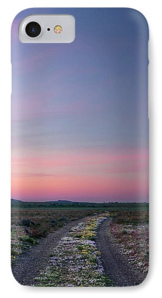 A Sunrise Path IPhone Case by Leland D Howard