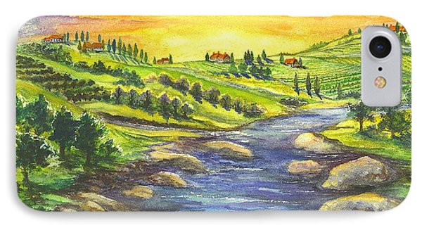 A Sunset In Wine Country IPhone Case by Carol Wisniewski