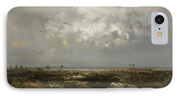 A Swamp In The Landes IPhone Case by Theodore Rousseau