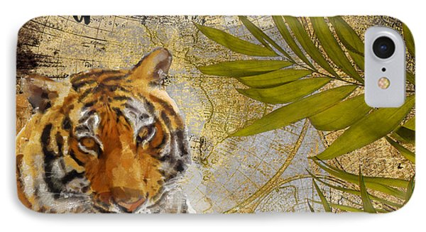 A Taste Of Africa Tiger IPhone Case by Mindy Sommers