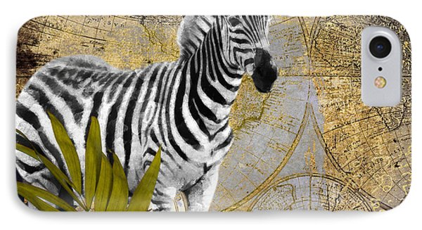 A Taste Of Africa Zebra IPhone Case by Mindy Sommers