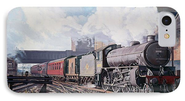 A 'thompson' B1 Class Moving Empty Stock On A Cold February Morning IPhone Case by David Nolan