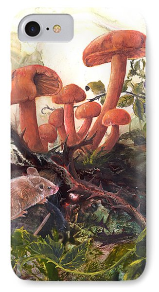 IPhone Case featuring the painting A Thorny Situation by Sherry Shipley
