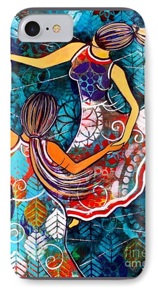 IPhone Case featuring the painting A Time To Dance by Julie Hoyle