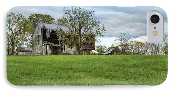 IPhone Case featuring the photograph A Tired Old Barn by John M Bailey