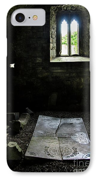 IPhone Case featuring the photograph A Tombstone In Sligo Abbey by RicardMN Photography