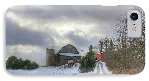 A Touch Of Snow IPhone Case by Sharon Batdorf