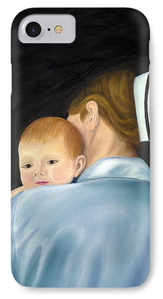 IPhone Case featuring the painting Comforting A Tradition Of Nursing by Marlyn Boyd