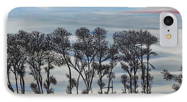 IPhone Case featuring the painting A Treeline Silhouette by Marilyn  McNish
