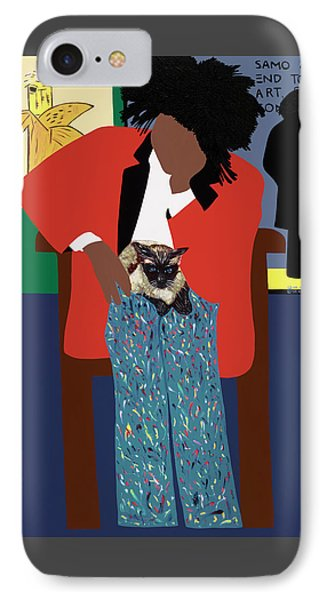 A Tribute To Jean-michel Basquiat IPhone Case by Synthia SAINT JAMES