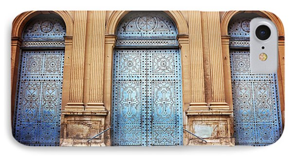 A Trio Of Doors In Valencia Spain IPhone Case by Carol Japp