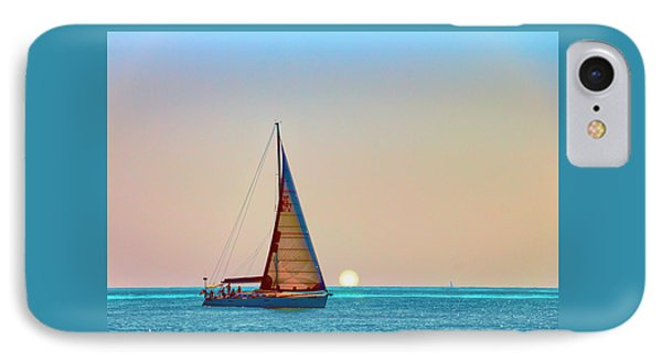 A Trip On A Yacht, Probably One Of The Most Romantic Adventure Vacation IPhone Case by George Westermak