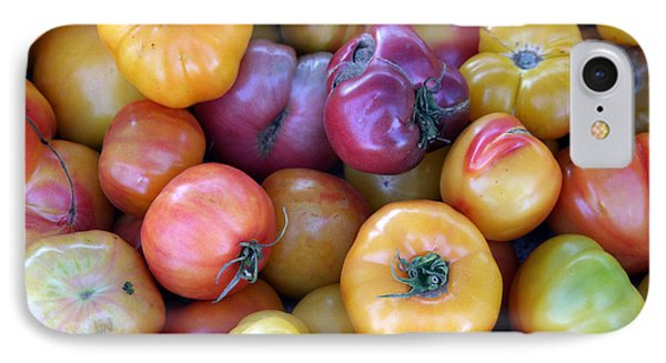 A Trip Through The Farmers Market Featuring Heirloom Tomatoes. Phone Case by Michael Ledray