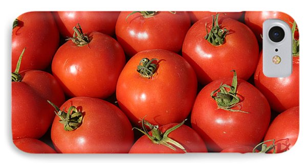 A Trip Through The Farmers Market With Red Tomatoes Phone Case by Michael Ledray