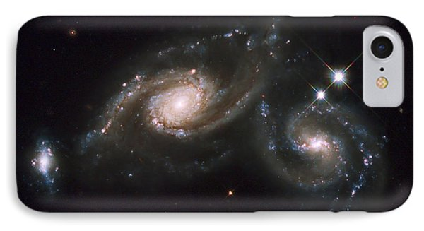 A Triplet Of Galaxies Known As Arp 274 Phone Case by Stocktrek Images