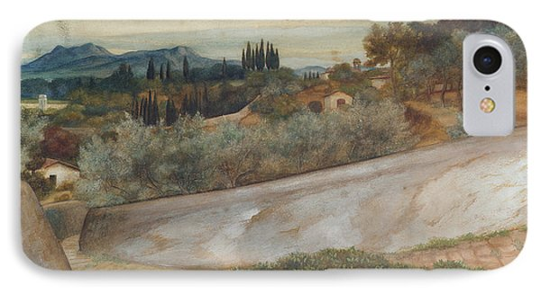 A Tuscan Landscape With Village And Olive Grove IPhone Case