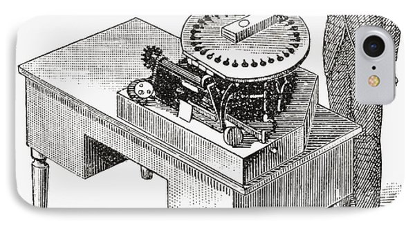 A Typewriter Of 1836. From The Strand IPhone Case